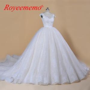 Image 1 - 2020 Nieuwe Luxe Desgin Trouwjurken Korte Mouwen Bruid Dress Custom Made Dubai Trouwjurk Fabriek Direct Baljurk