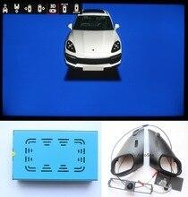 Cámara para Porsche Cayenne Macan, 360 grados, vista envolvente SVM Ojo de pájaro, 4 vías, 1080P, con dirección vivo, línea de trayectoria de estacionamiento