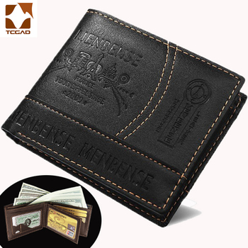 Men's Wallet leather short purse 1