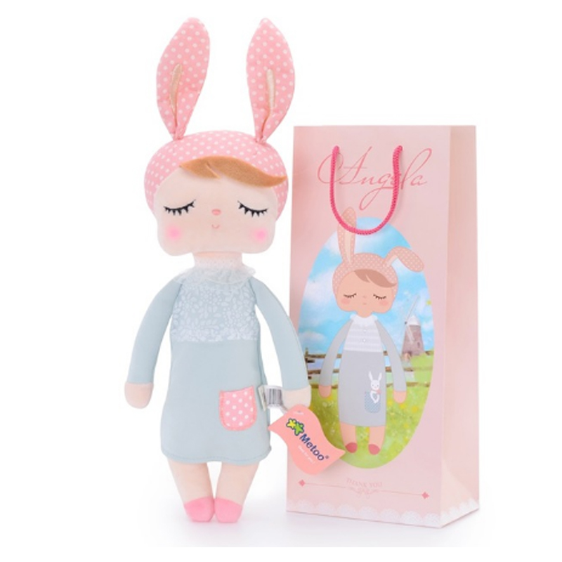 Metoo Mermaid Angela Plush Dolls Baby Toy Gift Lace Bunny Rabbit Animals Zero Genuine Plush Doll  For Children Girl Kids Toys