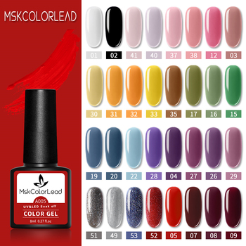 Msk Color Lead Nail Gel Polish 60 Colors Nail Gel 8ML For Baking Nail Art Manicure Semi Permanent Top Coat UV LED Gel Varnish 1