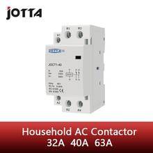 2P 32A 40A 63A  220V/230V 50/60HZ din rail household ac contactor 2NO / 2NC / 1NO 1NC