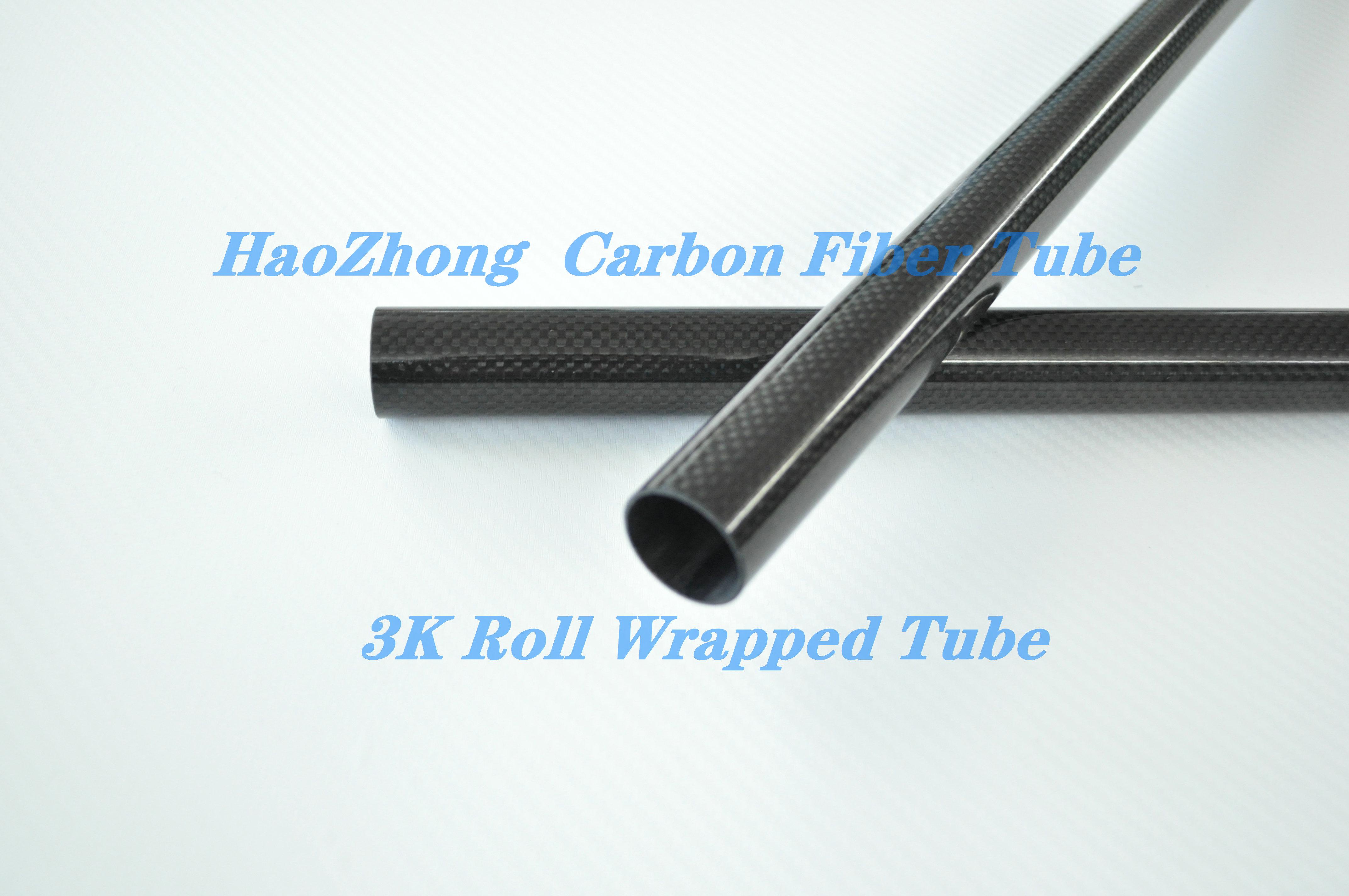 1PCS Carbon Fiber Tubes 8MM OD x 7MM ID x 1000MM 100% 3k Carbon Fiber tube / Tubing /pipe/shaft Roll Wrapped . 100% full carbon