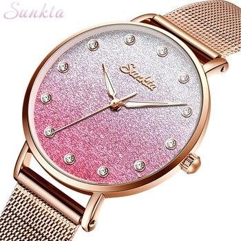 SUNKTA Watches Women Brand Ladies Fashion Watches Reloj Mujer zegarek damski montre femme relogio feminino relojes para mujer