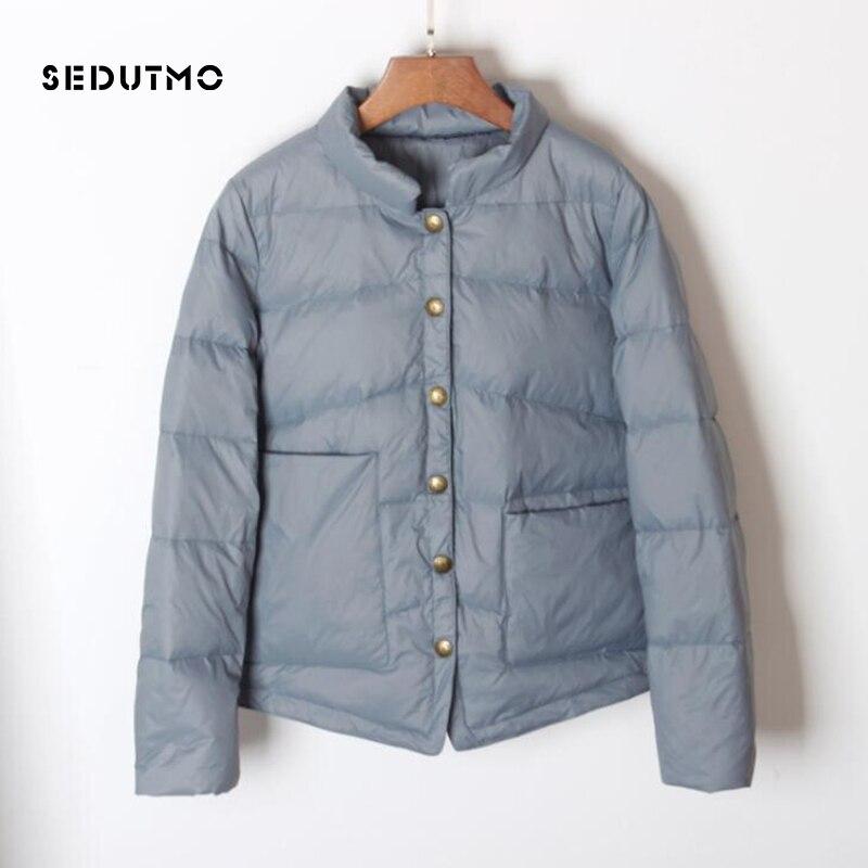 SEDUTMO Winter Ultra Light Duck Down Coat Women Short Oversize Jackets Slim Autumn Puffer Jacket Pocket Parkas ED862 1