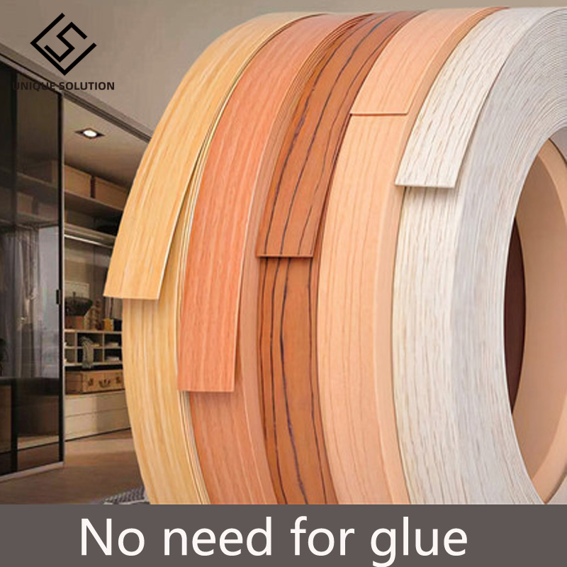 10M 2cm Self Adhesive Furniture Wood Veneer Decorative Edge Banding PVC For Furniture Cabinet Office Table Wood Surface Edging