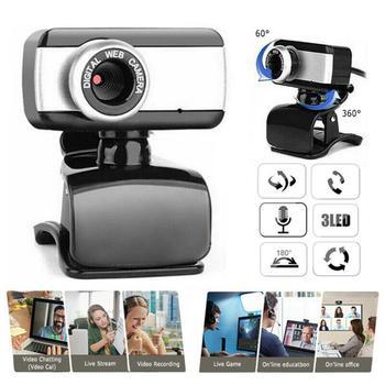 Webcam con micrófono HD 480 USB 2,0 Webcam Laptop Notebook Escritorio PC cámara Web para transmisión en vivo en línea