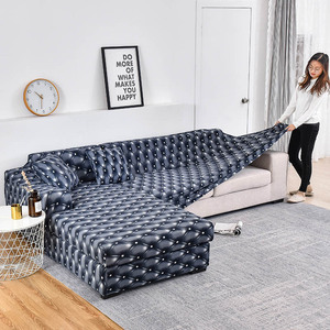 Image 5 - Elastic Plaid Sofa Covers for Living Room Need Order 2 Pieces Cover for fundas sofas con chaise longue funda sofa Armchair Cover