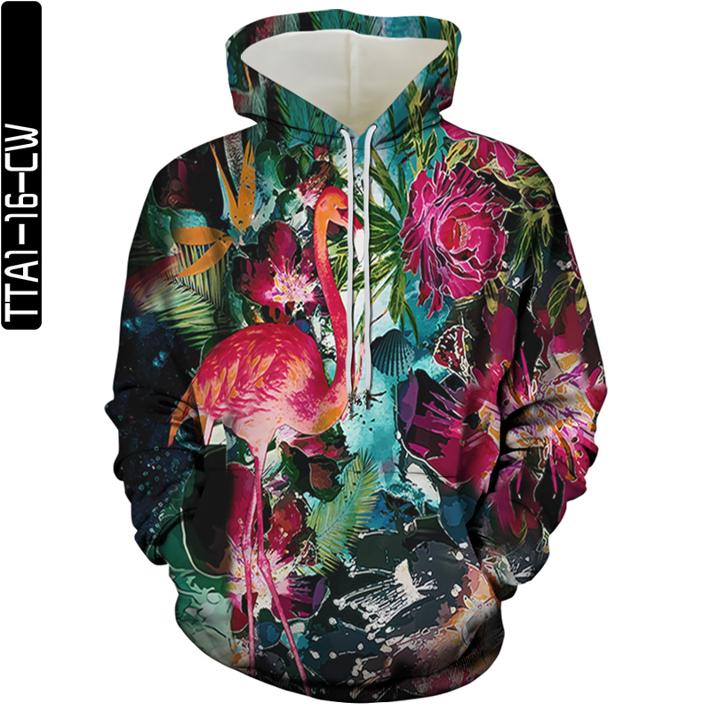 2021 new 3D printing bird element men and women sweatshirt hoodie spring and summer fashion street casual hoodie plus size