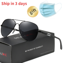 Aluminum Pilot Sunglasses Men Polarized for Driving Polaroid Sun Glasses Metal F