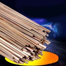 10 pçs de alta qualidade baixa temperatura plana hastes de solda para soldagem solda reparação eletrodo cobre 3x1.3x400mm