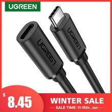 Ugreen usb c cabo de extensão tipo c cabo extensor USB C thunderbolt 3 para xiaomi nintendo interruptor usb 3.1 cabo de extensão usb