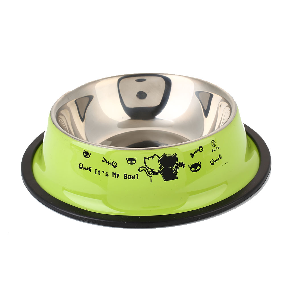 Bowls Cat Feed Pet Feeding Bowl Container Pet Supply Stainless Steel Water Plates Food Tool Home Decor Drinking Feeder
