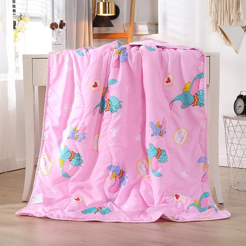 Disney Cartoon Cute Dumbo Children Blanket Summer Quilt For Girls Boys Children Gift Throw110x150cm Bedroom On Bed Sofa