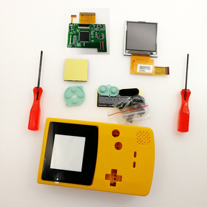 DIY GBC Console Screen LCD Kits Shell case buttons for Game boy Color Backlight LCD Screen 5 Levels Brightness screw drivers(China)