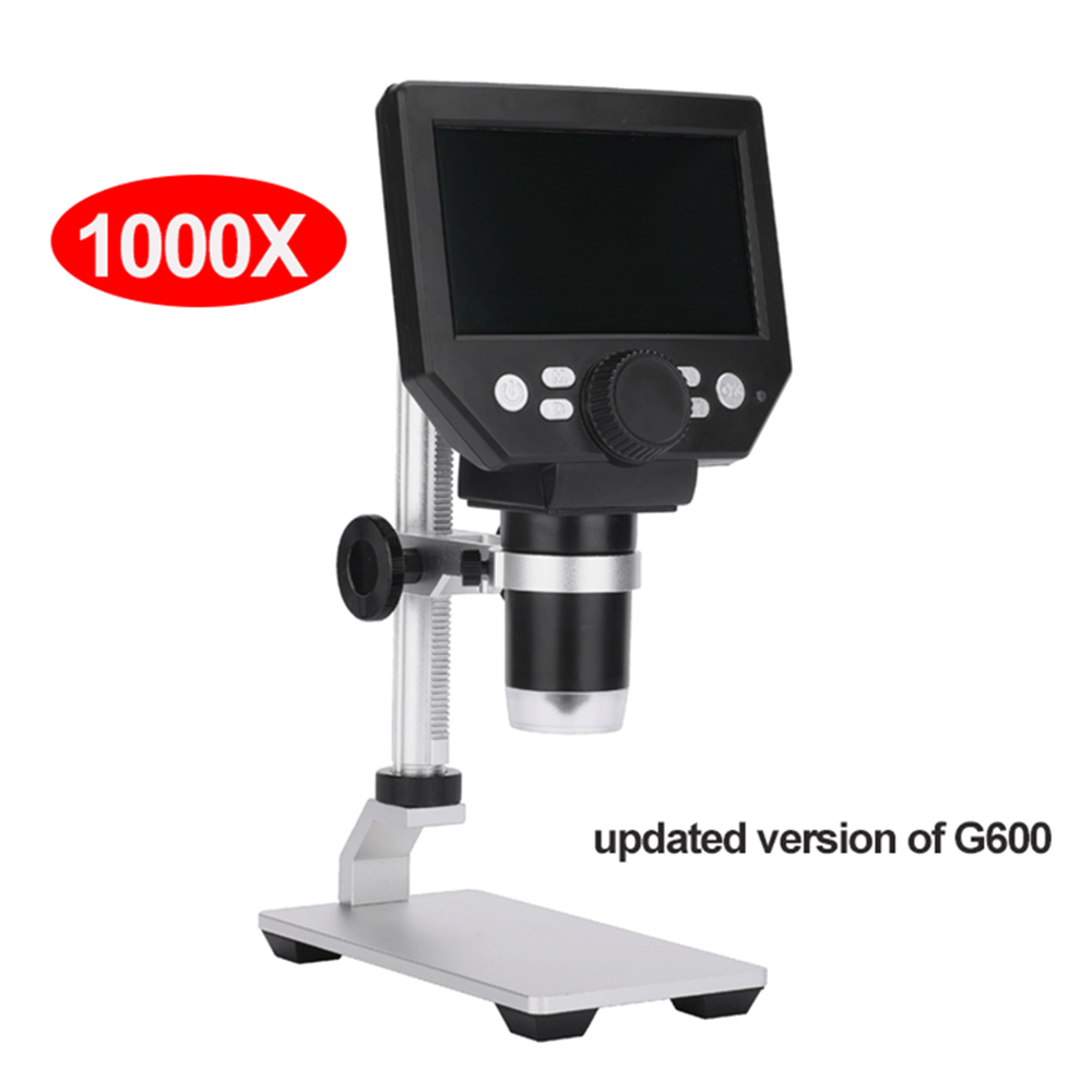 G1000 1000X electronic USB microscope digital soldering video microscope camera 4.3 inch lcd Endoscope magnifying Camera +LED