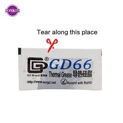 50 sztuk GD66 smar termoprzewodzący wklej gips silikonowy dla chip led radiator związek 50 sztuk gramów wysokiej wydajności szary w Grzejniki lampowe od Lampy i oświetlenie na