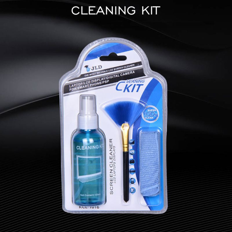 Screen Cleaner Solution For Laptop/Phone/ IPad/Eyeglass /Household Appliances Cleaner Includes Spray + Brush + Cleaning Cloth