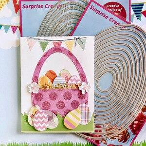 Image 4 - 2 Set duże wykrojniki A5 jajka zwykły i szyte księga gości Cardmaking PaperCraft DIY niespodzianka tworzenie umiera