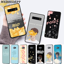 WEBBEDEPP Troye Sivan Wild Silicone Case for Samsung S6 Edge S7 S8 Plus S9 S10 S10e Note 8 9 10 M10 M20 M30