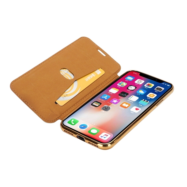 Slim Leather Case for iPhone X 8 7 6 6S Plus 5 5S SE Case for XS Max XR Clear Back Soft TPU Flip Wallet Phone Case Capa Coque 5