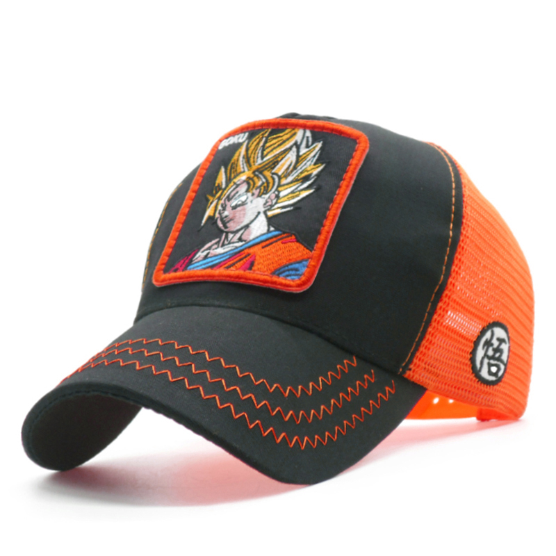 Dragon Ball Z Goku Embroidery   Baseball     Cap   Super Saiyan Dad Mesh Truck Hat Men Women Summer Snapback   Caps   Dropshipping