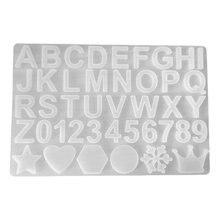 Кристальная эпоксидная смола форма алфавит буквенный номер подвеска