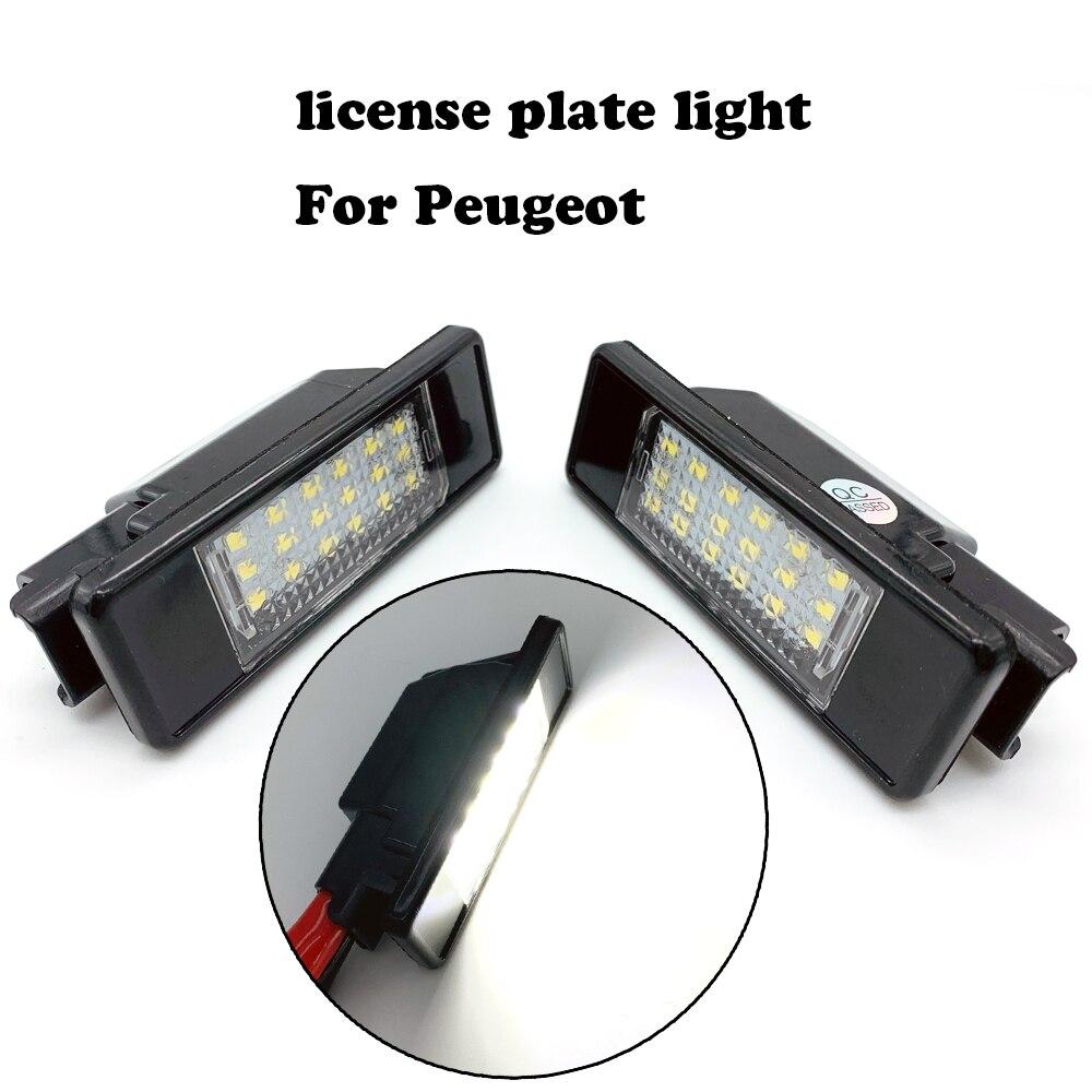 Светильник номерного знака для Peugeot 106 1007 207 307 3008 406 407 607 для citroen C2 C3 C4 C5 C6 C8 DS3 лампа номерного знака