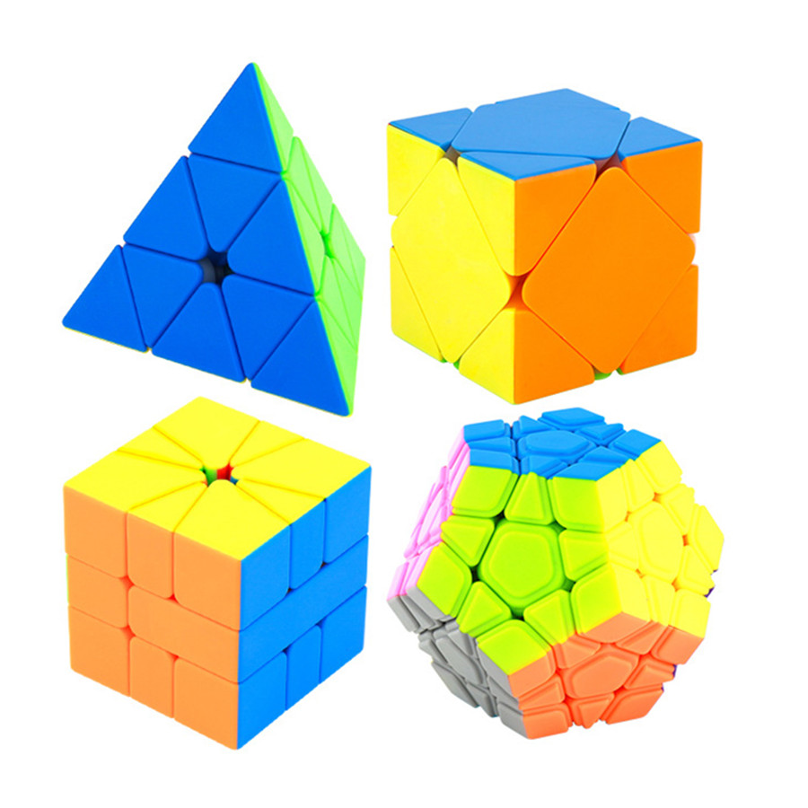 Moyu Meilong 4pcs Set Skew Pyramid SQ1 Megaminx Puzzle Set WCA Official Competition Magico Speed Cubes Puzzles Toys For Children