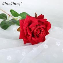 CHENCHENG 48 см искусственные розы поддельные розы сухоцветы шелковые цветы искусственные растения для украшения свадьбы декоративные цветы