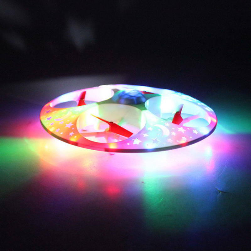UFO Unmanned Aerial Vehicle Dazzle Light Quadcopter Remote Control Aircraft CHILDREN'S Toy Novelty Gift