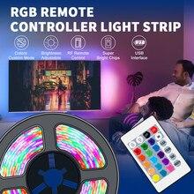 Bande lumineuse Flexible RGB RGBW, 5V, 0.5/1/2/3/4/5M, USB, étanche, ruban arrière pour écran de bureau TV