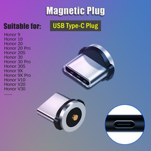 Charging-Plug Usb-C-Adapter Magnetic Cable Usb type-C Huawei Round for Honor/30/20-10-9/..