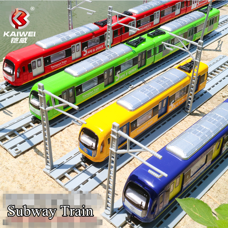 Diecast Metal Toy/Sound & Light Pull Back Educational Car/City Transport Subway Train/For Children's Gift Or Collection