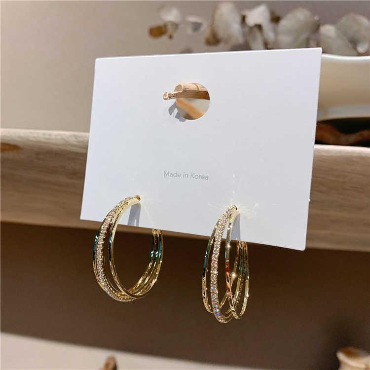 ยอดนิยมใหม่เกาหลีแหวนหูต่างหูวงกลมขนาดใหญ่ต่างหูประณีตElegantผู้หญิงต่างหูคุณภาพสูงต่างหู