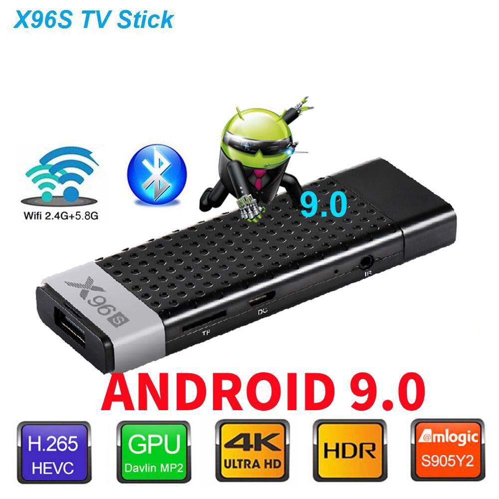 X96S Android 9.0 4GB32GB TV Box téléphone AIRPLAY/DLNA Ultra HD 4K TV Stick 2.4G/5G WIFI BT4.2 USB3.0 Smart Media Player décodeur