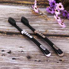 Brosse à Dents en bambou noir écologique pour adultes, 2 pièces/paquet