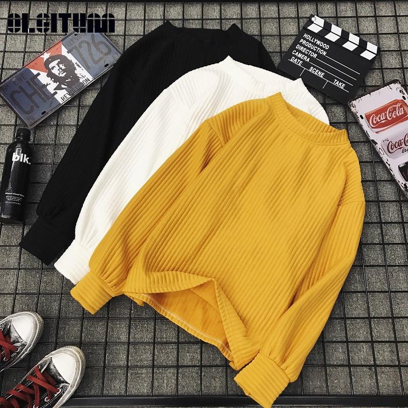 Sweater Women 2020 Autumn Winter Retro Loose Korean Knit Sweater Female O Neck Long Sleeve Slim Sweater Jumper Female Tops