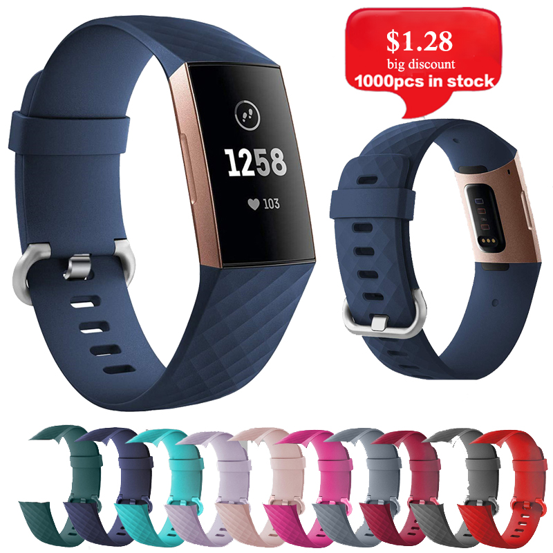 Strap For Fitbit Charge 3 4 Silica Strap Replacement  Wrist Belt Sports Strap For Fitbit Smart Watch Band Accessories Strap D18