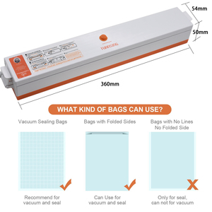 Image 4 - Vacuum Food Sealer Machine 220V/110V Vacuum Sealing Machine Film Food Sealer Saver Include 15pcs Vacuum Packer