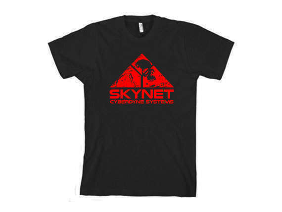 2019 New Mens T Shirts Science Fiction T Shirt Sci Fi Movie Skynet Terminator Robot Comicon Tee 100% Cotton Brand New T Shirt image