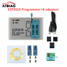Ezp 2019 EZP2019 High Speed USB SPI Programmer + 7dapters Unterstützung 24 25 93 EEPROM 25 Flash Bios chip