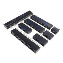 Connecteur de bord-fente pour carte 2.54mm, 5 pièces, pas 44/50/60/62/64/72/80/86/98/100/120 broches, prise de doigt en or à travers des trous verticaux