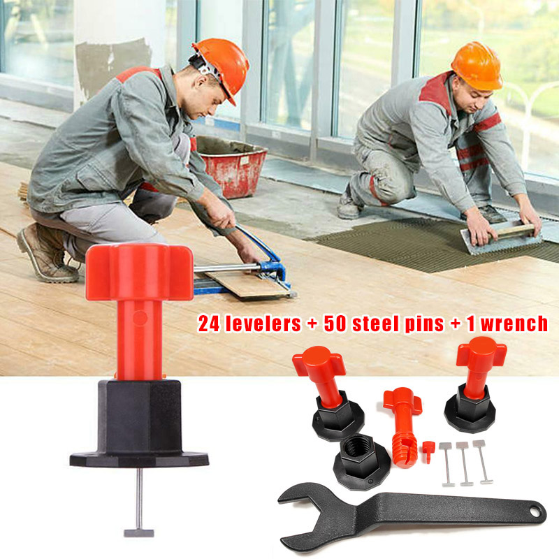 75 Pcs Reusable Anti-Lippage Tile Leveling System Locator Tool Ceramic Floor Wall Can CSV