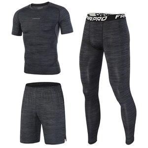 Image 2 - FANNAI combinaison de Sport pour homme, le Running, le Fitness, le Fitness, séchage rapide
