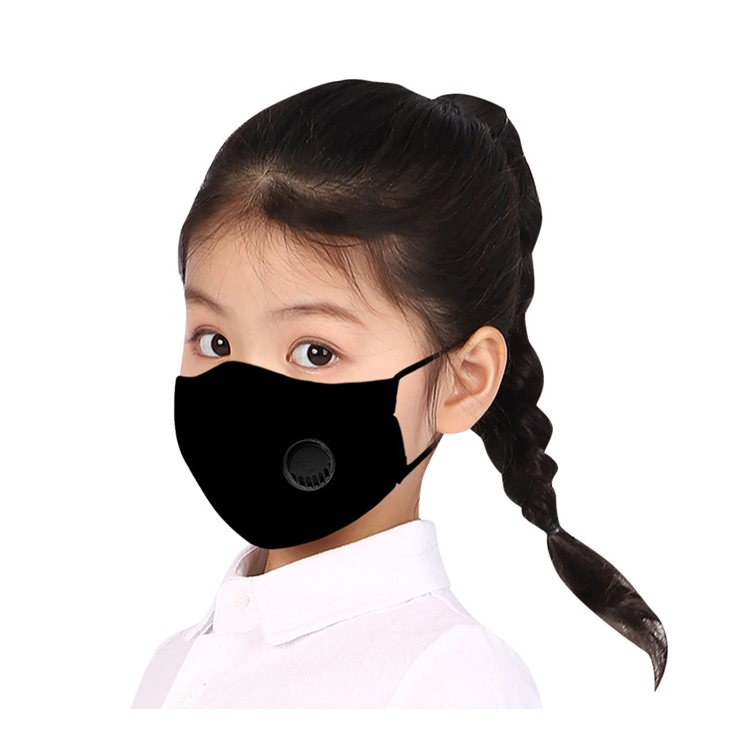 Cartoon Solid Facemask Kids Cotton Anti-pollution Cute Kids Mouth Anti-dust Face Masks Breathable Respirator Masque Mascarillas