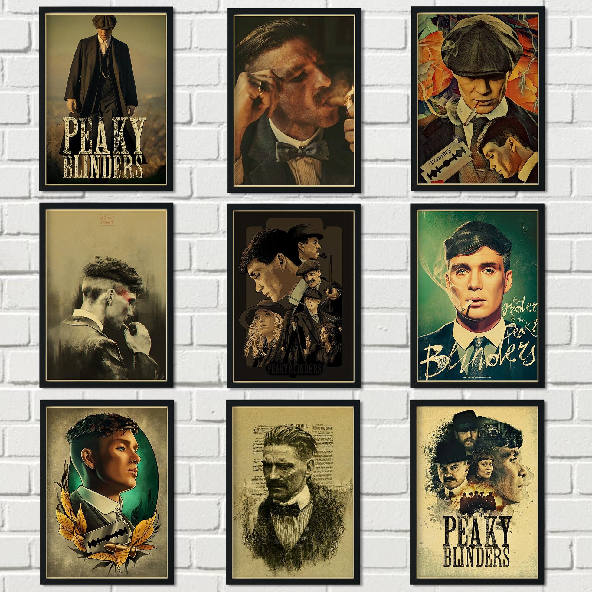 ysldtty Pittura su Tela British High Score Crime Drama Peaky Blinders Poster Hight Quality Home Decor Wall Art C344 Frameless 40cmx60cm