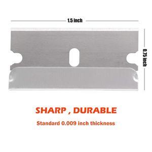 Image 5 - FOSHIO Window Glass Oven Cleaning Razor Scraper+100pcs Carbon Steel Blade Vinyl Wrap Film Sticker Remover Car Tinting Squeegee