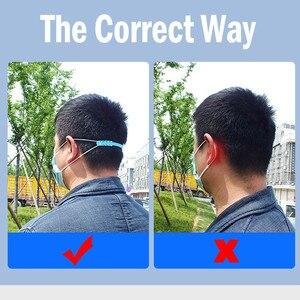 Image 4 - 5PCS Maske Extender Nicht Verschärfung Gehörschutz Ear Kabel Verlängerung Einstellbare Nicht Slip Ohr Band Haken Ohr strap Zubehör