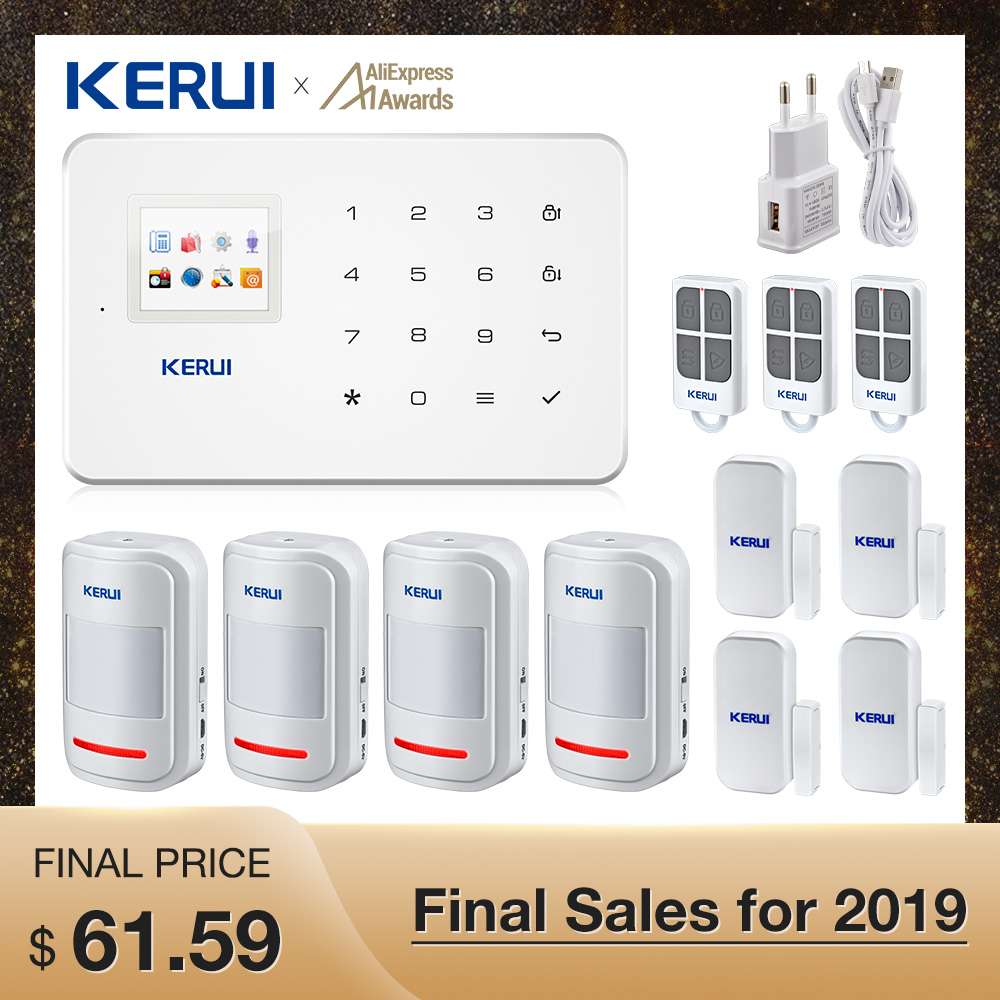 Kerui G18 GSM Home  Alarm Systems Security TFT Android IOS APP Touch Keypad Smart Home Burglar Alarm  System DIY Motion Sensor